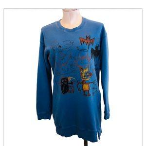 Tops - SPRZ NY Jean Michel Basquiat Tunic Sweatshirt